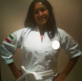 my white belt is definitely the one that means the most to me as it  symbolizes my willingness to be brave and step into a new adventure  with the goal of gaining confidence and courage in my life