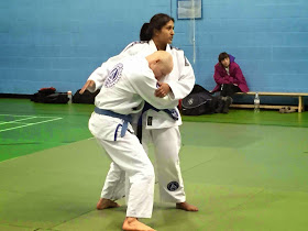 in the middle of teaching how to pull guard
