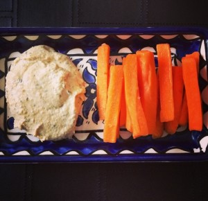 PlumCooks Carrots and Hummus