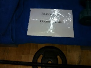 Reserved for Dr. Ayesha