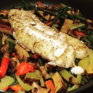 PlumCooks Fish stir fry