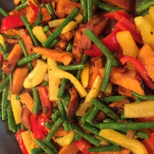 PlumCooks Fish stir fry Vegetables
