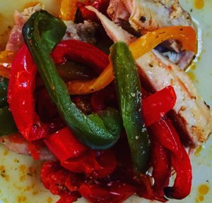 PlumCooks Chicken and Bell peppers portion