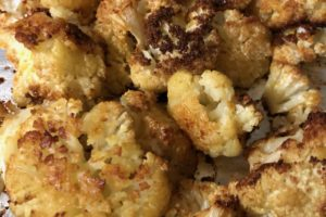 Roasted Garlicky Cauliflower