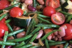 Warm String Bean and Cherry Tomato Salad